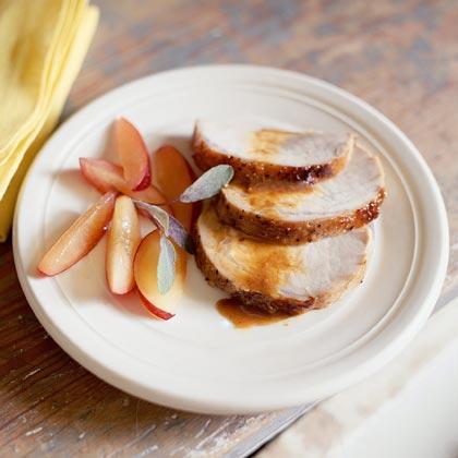 Pork Roast With Plum Glaze