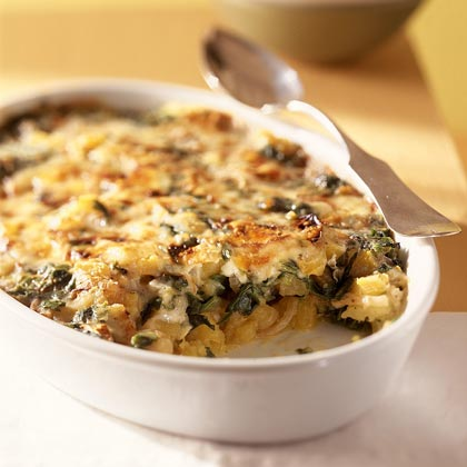 Scalloped Pumpkin and Spinach