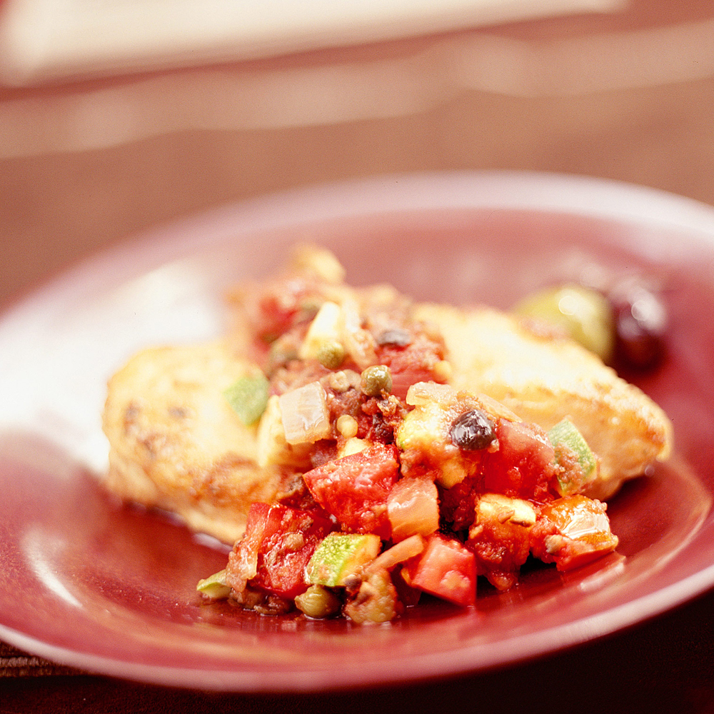 Mediterranean Chicken With SalsaRecipe