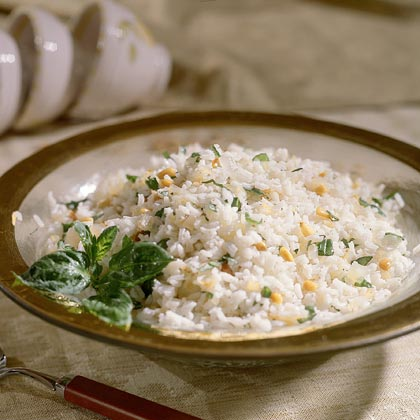 Pine Nut-and-Rice PilafRecipe