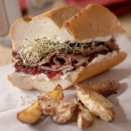 Tangy Roast-Beef Sandwiches Recipe