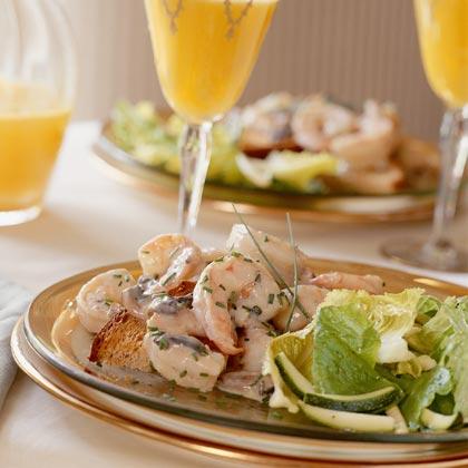 Shrimp Newburg on Toast Points Recipe