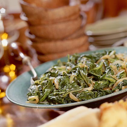 Turnip Greens With Caramelized Onions