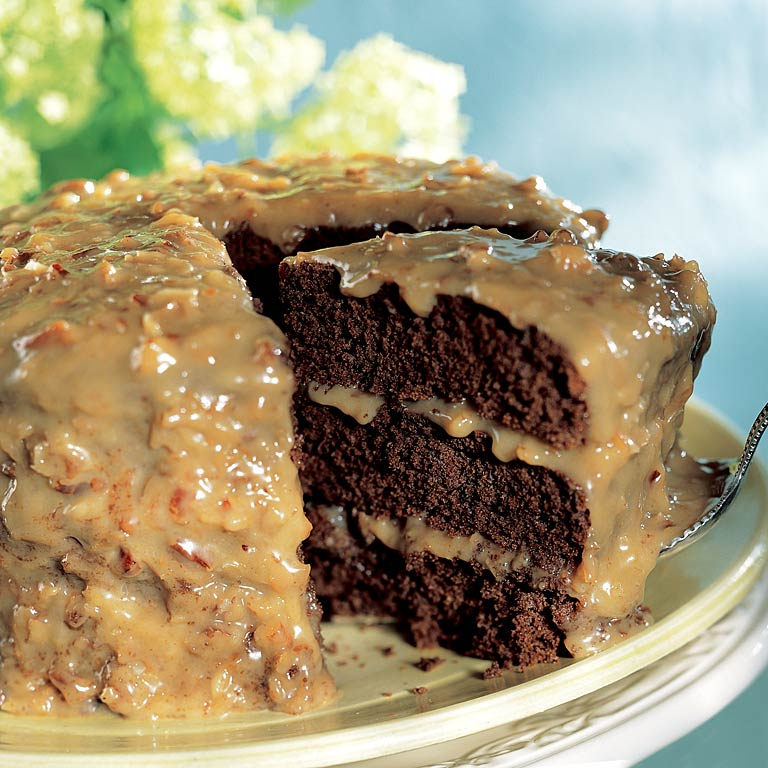 Low carb sugar free german chocolate cake
