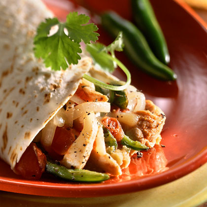 Chicken-and-Rajas Enchiladas