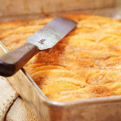 Peach-Streusel Kuchen