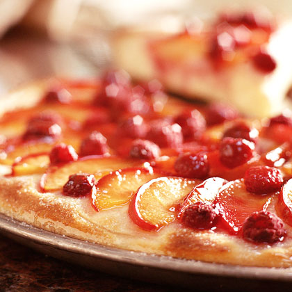 Glazed Plum-Raspberry Kuchen Recipe