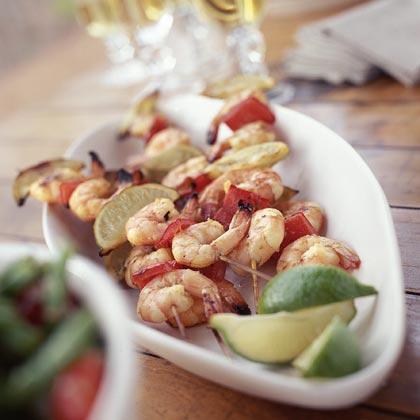 Shrimp Kebabs with Jalapeño-Lime Marinade