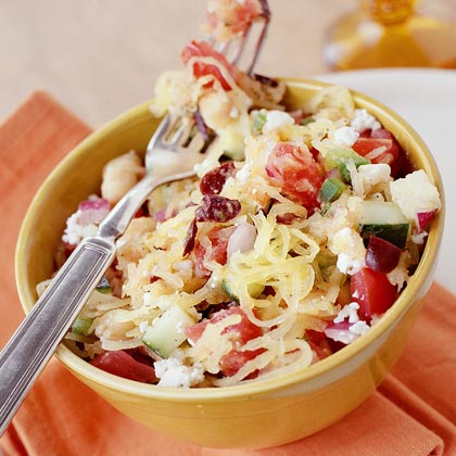 Greek-Style Salad with Spaghetti Squash Recipe