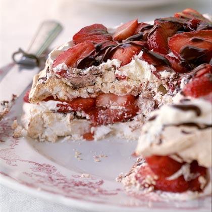 Strawberry-Chocolate Meringue Torte Recipe