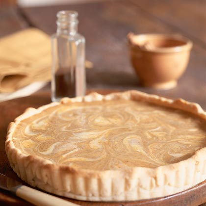 Pumpkin-Swirl Cheesecake Tart