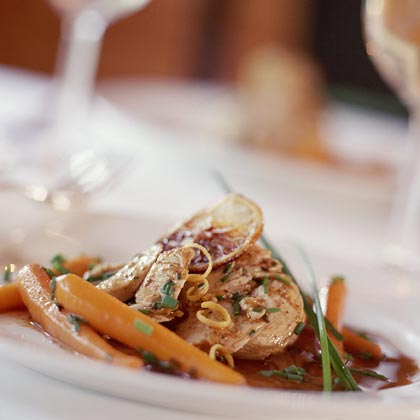 Chicken and Baby Carrots with Lemon and Chives