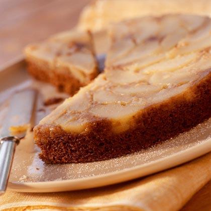 Pear Upside-Down Gingerbread Cake
