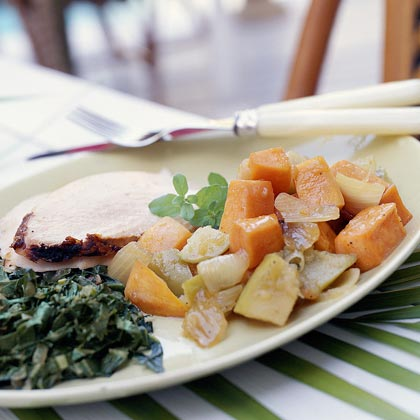 Sweet Potato-Granny Smith Apple Salad