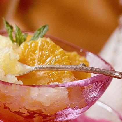 Lemon-Poached Oranges