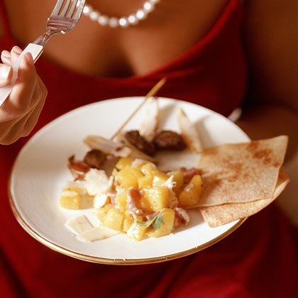Prosciutto, Mango, and Parmesan Salad