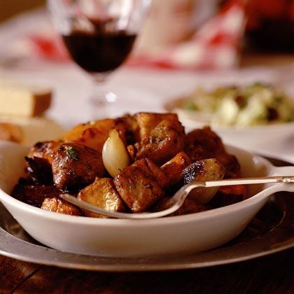 Pork and Roasted Winter Vegetables