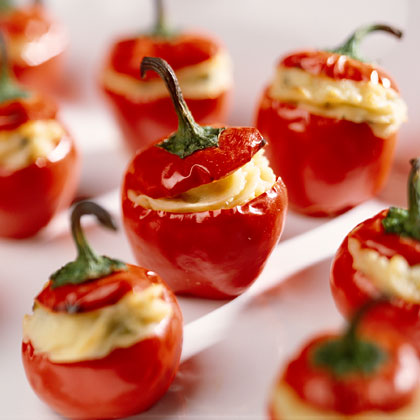Fiery Stuffed Cherry Pepper AppetizersRecipe
