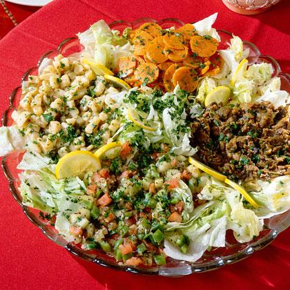 Grilled Tomato, Bell Pepper, and Portobello Salad