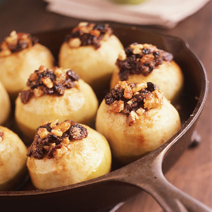 Stuffed Granny Smiths With Maple Sauce