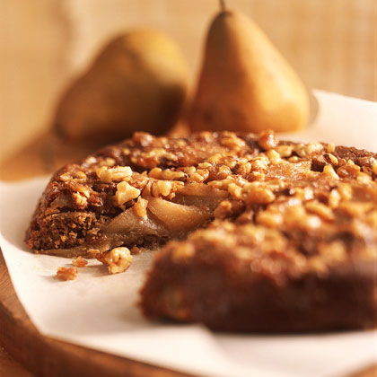 Pear-Walnut Upside-Down Cake