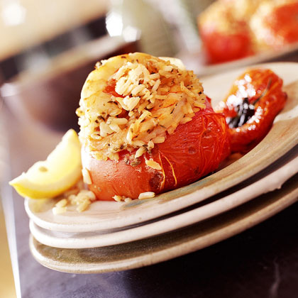 Shrimp-and-Rice Stuffed Tomatoes Recipe