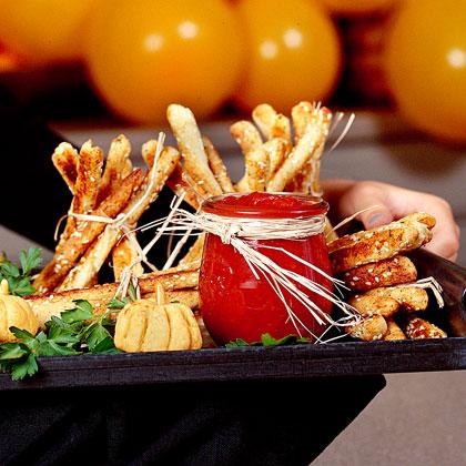 Breadstick Haystacks