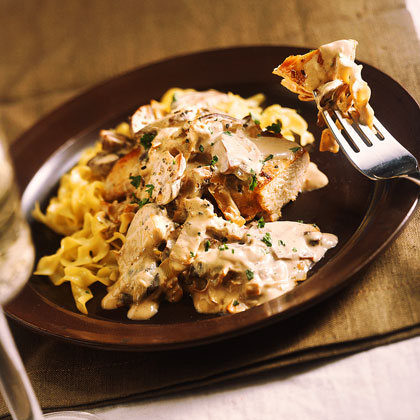 Smothered Chicken in Mushroom Ragout