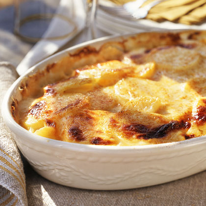 Creamy Two-Cheese Potatoes GratinRecipe