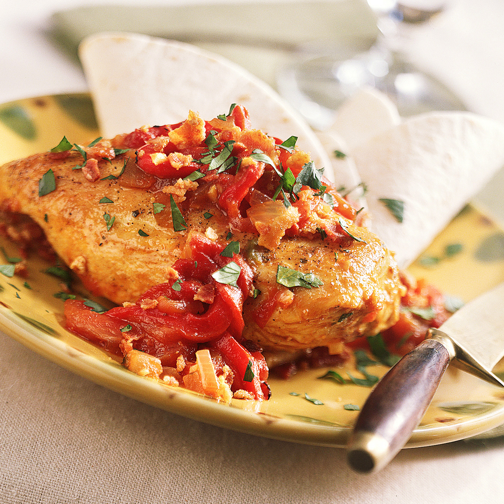 recipe: roasted red pepper chicken [2]