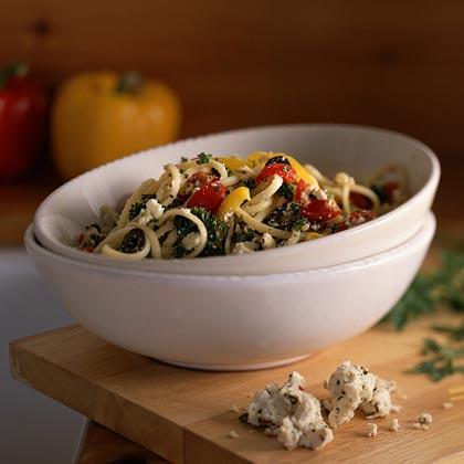 Bell Pepper-Feta Pasta TossRecipe