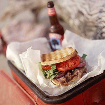 Rum-Pepper Steak Sandwiches