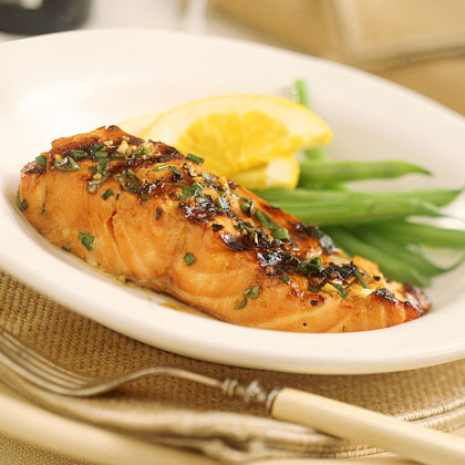 Grilled Orange-and-Bourbon Salmon