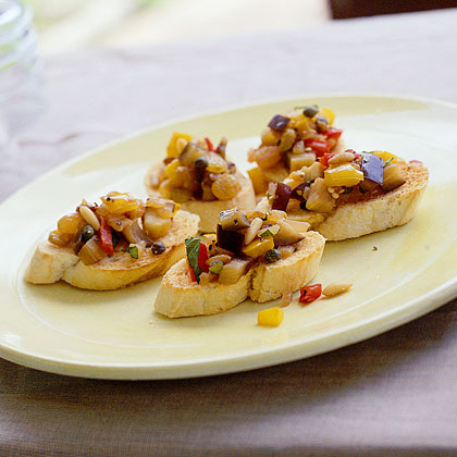 Caponata with Garlic Crostini