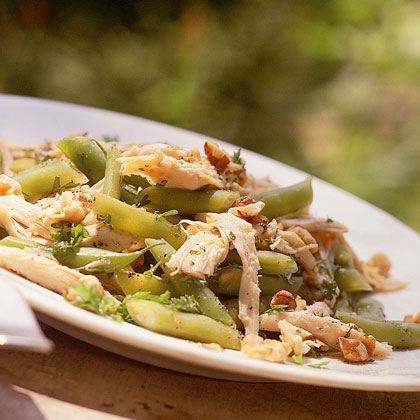 Chicken Salad with Green Beans and Toasted Walnuts