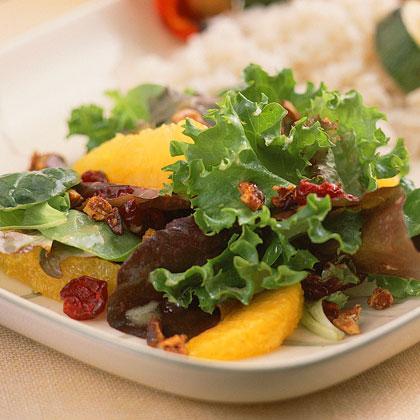 Field Salad with Citrus Vinaigrette and Sugared Pecans Recipe