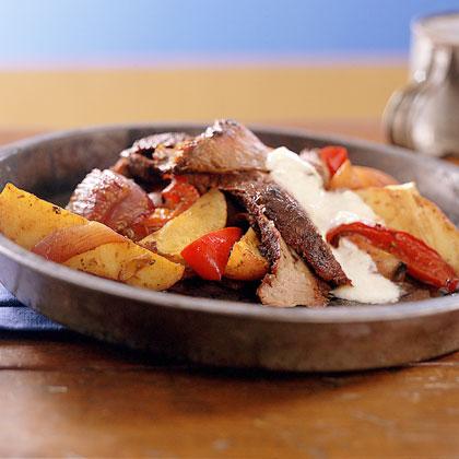 Rubbed Flank Steak with Horseradish Cream