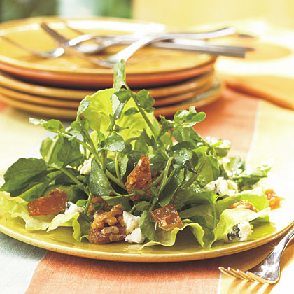Watercress Salad with Blue Cheese and Praline Recipe