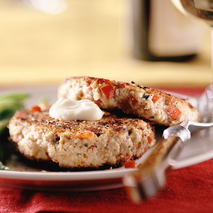 Mediterranean Tuna Cakes with Citrus Mayonnaise