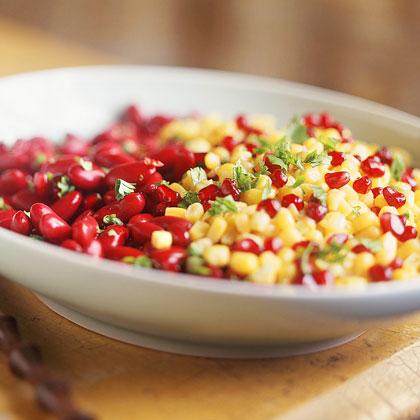 Kidney Bean, Corn, and Pomegranate Salad Recipe