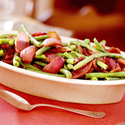 Green Beans and Pan-Roasted Red OnionsRecipe