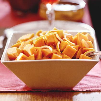 Maple-Glazed Sweet Potatoes Recipe | MyRecipes