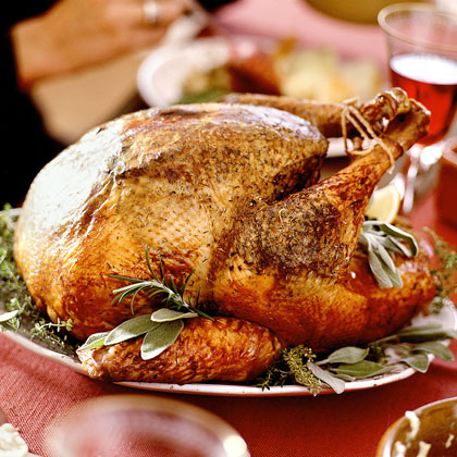 Lemon-Sage Turkey with Wild-Mushroom Gravy Recipe