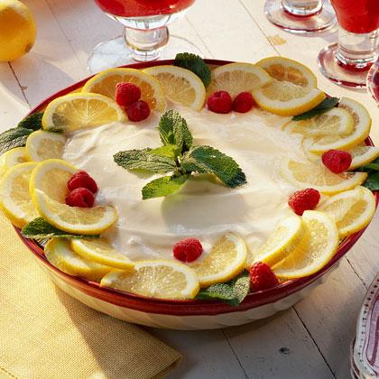 Lemony Ice-Cream Pie Recipe