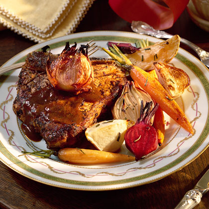 Herb-Peppered Veal Chops
