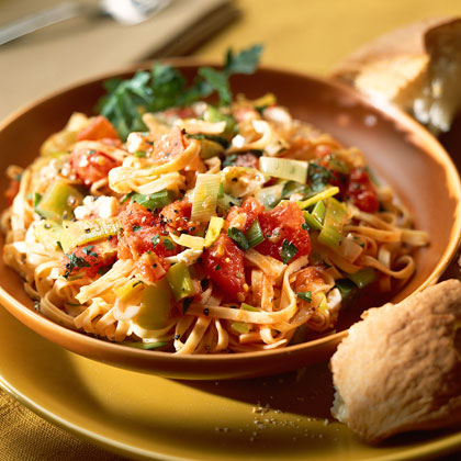 Leeks and Peppers with LinguineRecipe