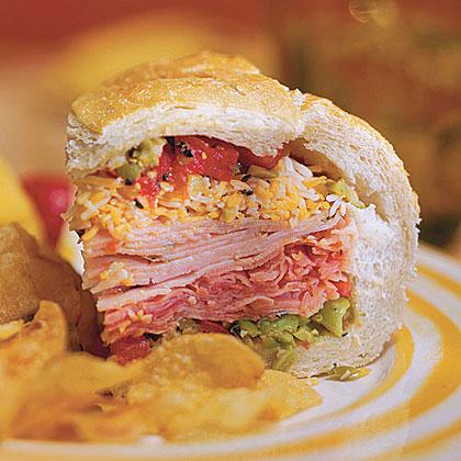 Deli Stuffed Sandwich Recipe Myrecipes