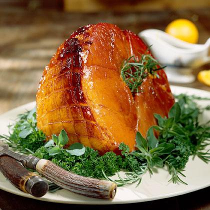 Baked Ham with Bourbon Glaze