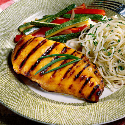 Honey-Glazed Grilled Chicken Recipe | MyRecipes.com