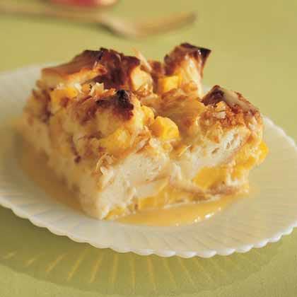 Mango-Coconut Bread Pudding Recipe